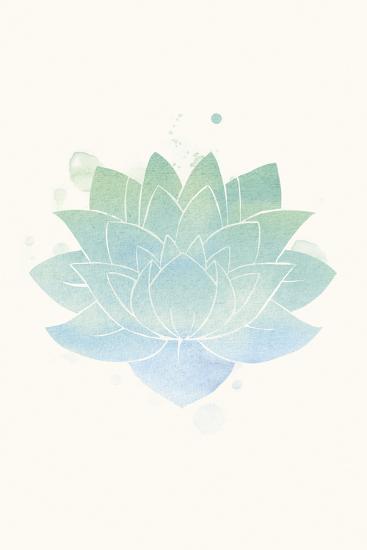 Mindfulness - Lotus-Sasha Blake-Art Print