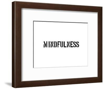 Mindfulness-SM Design-Framed Art Print