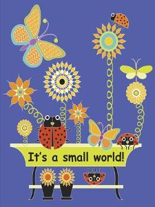 It's a Small World Flag by Mindy Howard