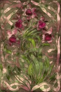 Art Nouveau Pink Floral by Mindy Sommers