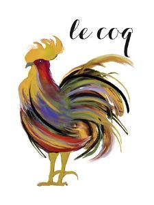 Art Nouveau Rooster I by Mindy Sommers