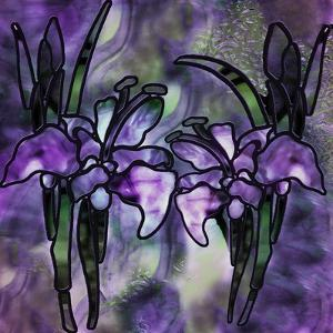 Stained Glass Orchids by Mindy Sommers
