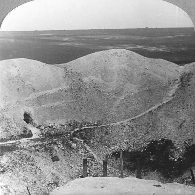 Mine Crater at La Boiselle, the Somme, France, World War I, C1916-C1918--Photographic Print