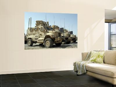 Mine Resistant Ambush Protected Vehicles Sit in the Parking Area at Joint Base Balad, Iraq--Wall Mural