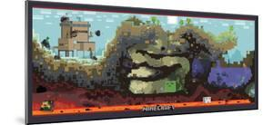 Minecraft Cross-Section Video Game Poster