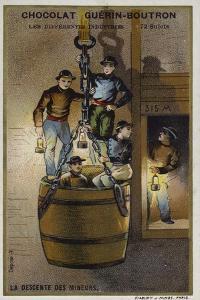 Miners Descending a Shaft