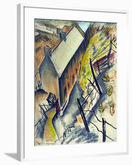 Miners� Houses, Trealaw, 1944-Isabel Alexander-Framed Giclee Print