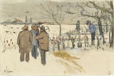 Miners in the Snow-Vincent van Gogh-Giclee Print