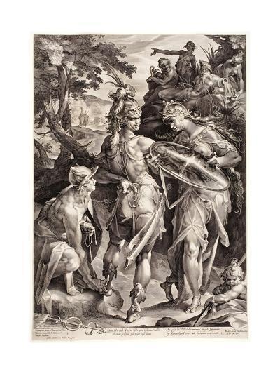 Minerva and Mercury Arming Perseus, 1604-Jan Harmensz Muller-Giclee Print