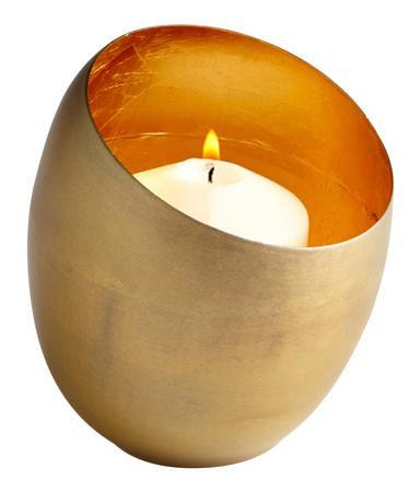 Minerva Brass Candleholder - Small