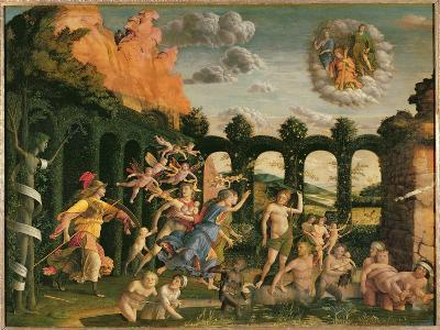 Minerva Chasing the Vices from the Garden of Virtue-Andrea Mantegna-Giclee Print