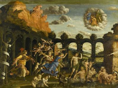 Minerva Expelling the Vices of the Garden of Virtue-Andrea Mantegna-Giclee Print
