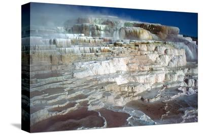 Minerva Terrace at Yellowstone--Stretched Canvas Print