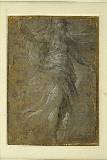 Minerva with a Shield in Her Left Hand, a Lance in Her Right-Parmigianino-Giclee Print
