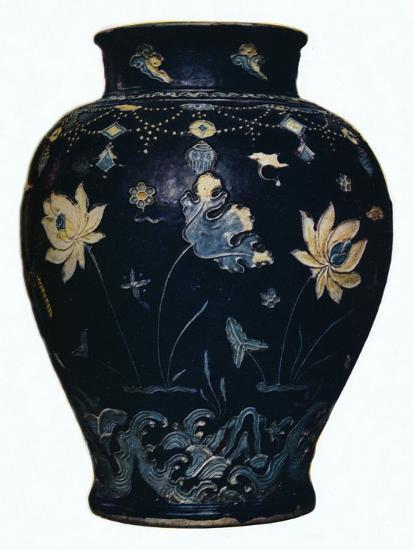 'Ming Dynasty, Fahua vase', 15th century-Unknown-Giclee Print