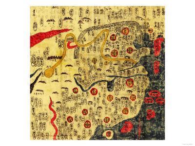 Ming Empire, China - Panoramic Map-Lantern Press-Art Print