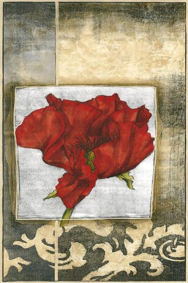 Mini Poppy Poetry IV-Jennifer Goldberger-Art Print
