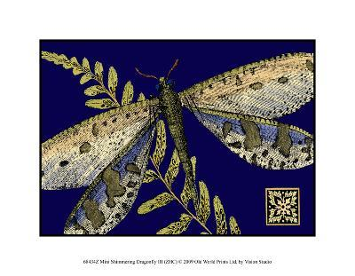 Mini Shimmering Dragonfly III--Giclee Print