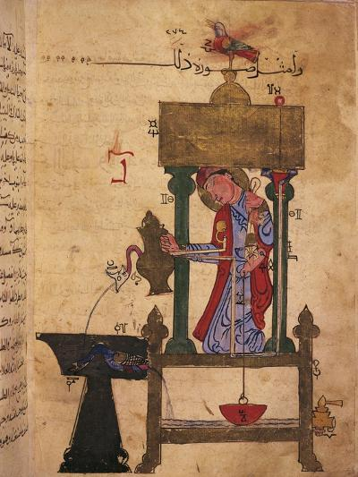 Miniature Depicting an Automaton Drawing Water Off--Giclee Print