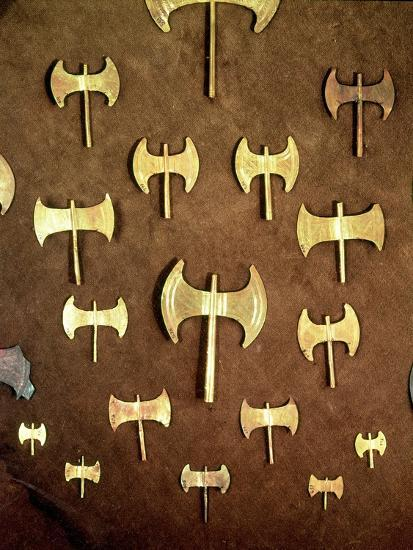 Miniature Double Axes, from the Cave of Arkalochori, circa 1500 BC--Giclee Print