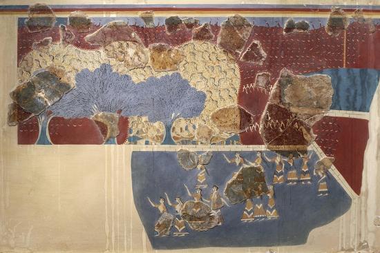 Miniature Fresco of Ladies Attending Ceremony--Giclee Print