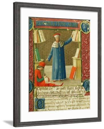 Miniature from 'Consilia et Allegations', the letters of Francesco Alvarotti, c.1477-78--Framed Giclee Print