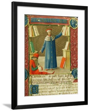 Miniature from 'Consilia et Allegations', the letters of Francesco Alvarotti, c.1477-78--Framed Giclee Print