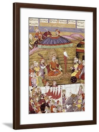 Miniature from Shahnameh or the Persian Book of Kings, Arabic Manuscript, Persia--Framed Giclee Print
