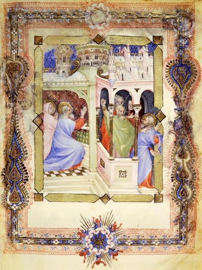 Miniature from the Book of Hours Visconti or Offiziolo Visconti, 14th-15th Century--Giclee Print