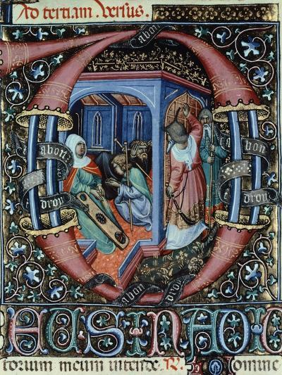 Miniature from the Book of Hours Visconti or Offizolo Visconti, 14th-15th Century--Giclee Print
