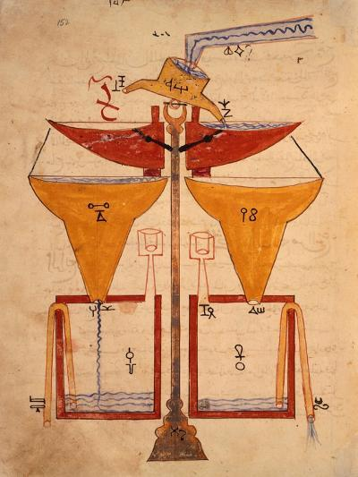 Miniature from the Book of Knowledge of Ingenious Mechanical Devices by Al-Jazari, Turkey 1203--Giclee Print