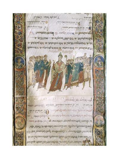 Miniature from the Four Gospels, Greek Manuscript, 12th Century--Giclee Print