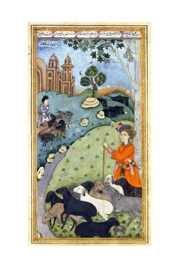 Miniature from Yusuf and Zalikha (Legend of Joseph and Potiphar's Wif) by Jami, Ca 1683-1685--Giclee Print