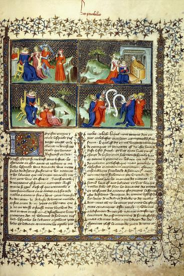 Miniature Illustrating the Judgement of the Mothers--Giclee Print