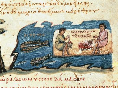 Miniature of a 14th Century Hunting and Fishing Treaty--Giclee Print