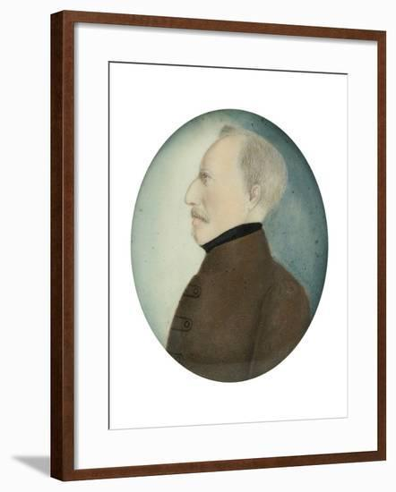 "Miniature of ""Colonel Gustafsson"" former Gustav IV Adolf King of Sweden, c.1830-Unknown Artist-Framed Giclee Print"