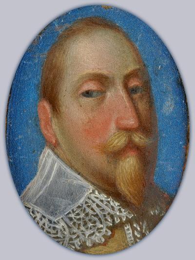 Miniature of Gustav II Adolf, King of Sweden, c.1630-Unknown Artist-Giclee Print