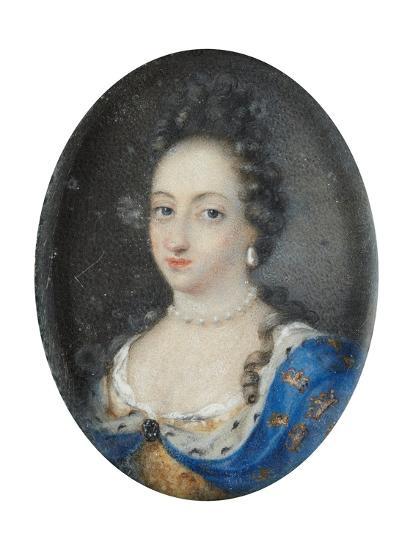 Miniature of Queen Ulrika Eleonora the Elder of Sweden, c.1680-Unknown Artist-Giclee Print