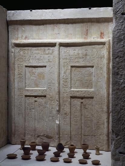 Miniature Pottery in Front of Chapel of Ky, Saqqara--Giclee Print