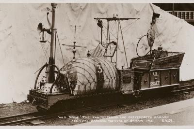 Miniature Railway Locomotive, Festival of Britain, 1951--Photographic Print