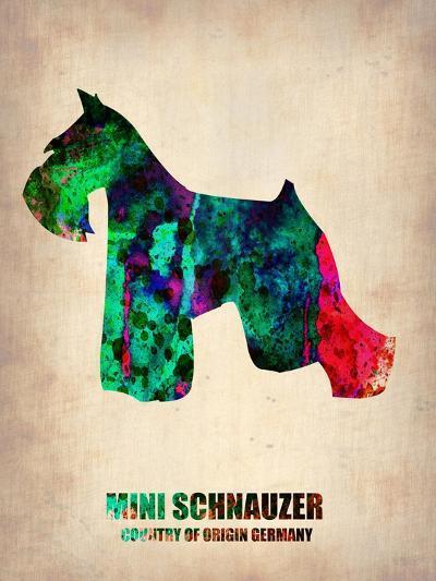 Miniature Schnauzer Poster-NaxArt-Art Print