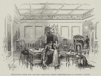 Miniature Stage for Madame Eleonora Duse's Performance at Windsor Castle-Herbert Railton-Giclee Print