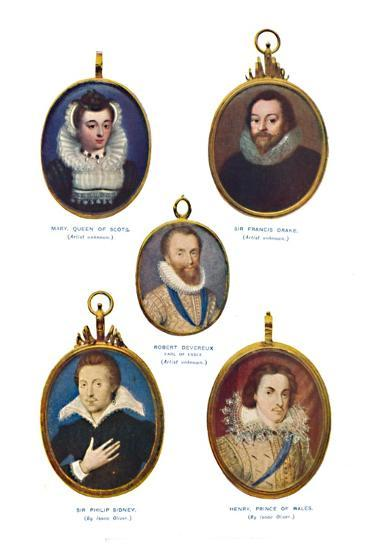 'Miniatures of the Elizabethan Period (Victoria and Albert Museum.)', c1580-1610, (1903)-Unknown-Giclee Print