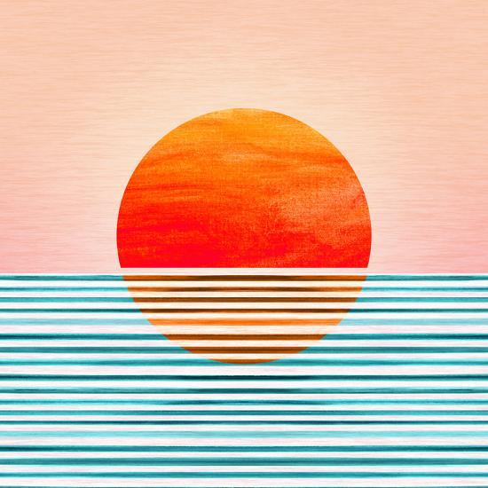 Minimal Sunrise I-Modern Tropical-Art Print