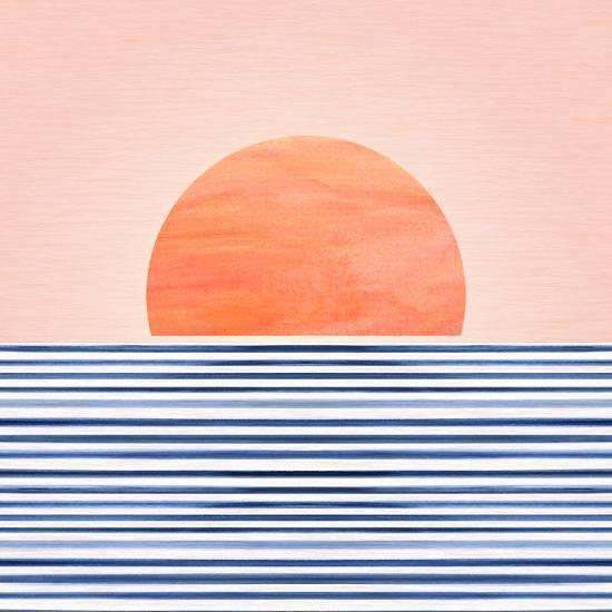 Minimal Sunrise Ii-Modern Tropical-Art Print