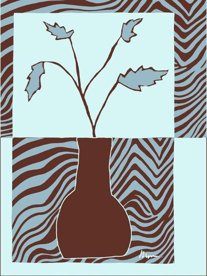 Minimalist Flowers in Blue II- Goldberger & Archie-Art Print