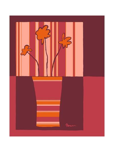 Minimalist Flowers in Orange IV- Goldberger & Archie-Art Print