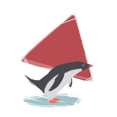 Minimalist Penguin, Boys Part III-Color Me Happy-Art Print