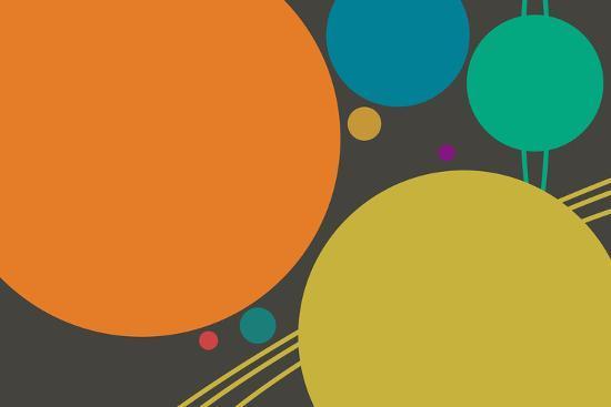 Minimalist Planets--Art Print