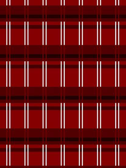 Minimalist Red Plaid Design 01-LightBoxJournal-Giclee Print